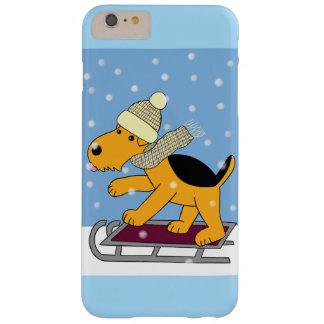 Airedale Terrier Dog on Sled iPhone 6/6s Plus Case