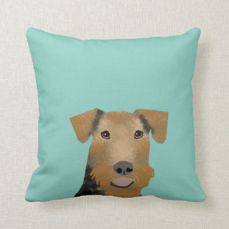 Airedale Terrier Dog pillow - cute dog design