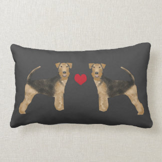 Airedale Terrier dog pillow dog love airedale love