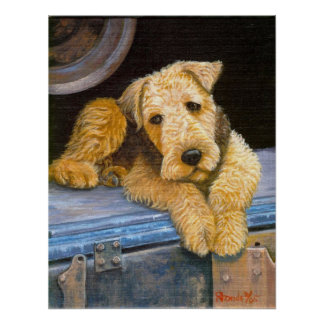 Airedale Terrier Dog Portrait Poster