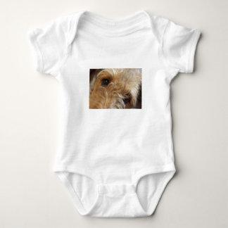 airedale terrier eyes baby bodysuit