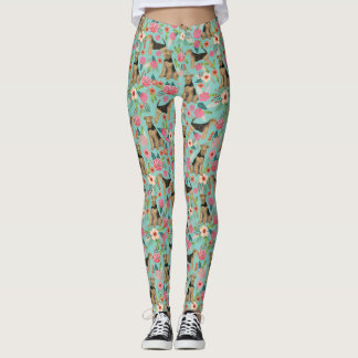 Airedale Terrier floral leggings