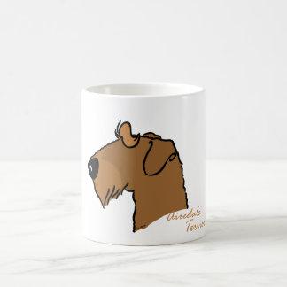 Airedale Terrier head silhouette Coffee Mug