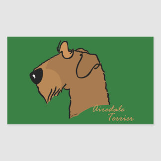 Airedale Terrier head silhouette Sticker