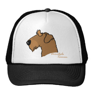 Airedale Terrier head silhouette Trucker Hat