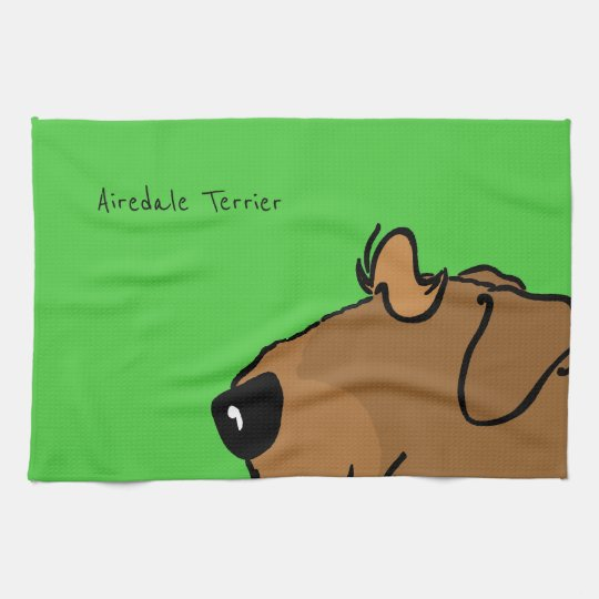 Airedale Terrier Head Towels