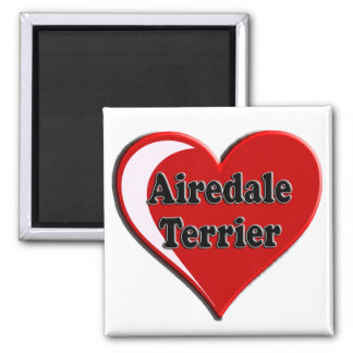 Airedale Terrier Heart Square Magnet