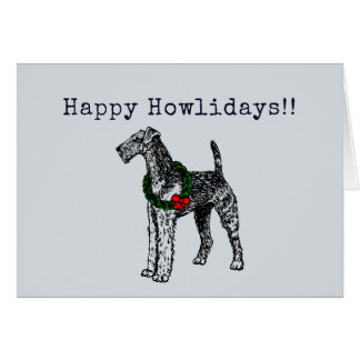 Airedale Terrier Holiday Card