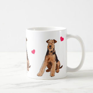 Airedale Terrier Illustrated Coffee Mug