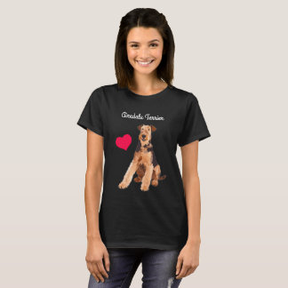 Airedale Terrier Illustrated T-Shirt (Black)