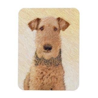 Airedale Terrier Painting - Cute Original Art Magnet