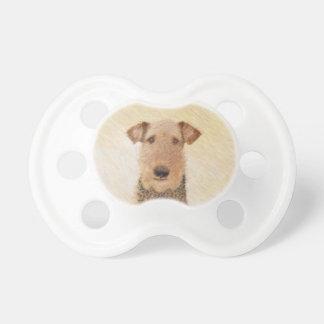 Airedale Terrier Painting - Cute Original Art Pacifier