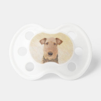 Airedale Terrier Painting - Cute Original Dog Art Pacifier