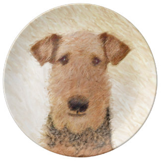 Airedale Terrier Plate