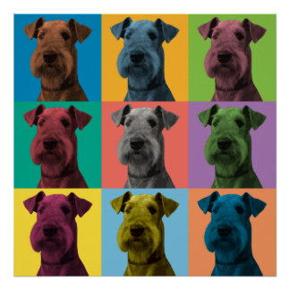 Airedale Terrier Pop-Art Poster