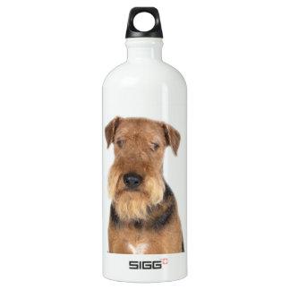 Airedale Terrier Portrait Water Bottle