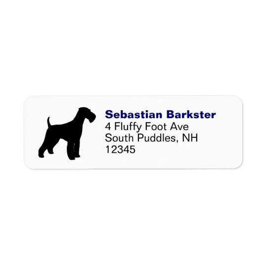 Airedale Terrier Return Address Label