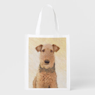 Airedale Terrier Reusable Grocery Bag