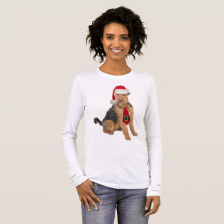 Airedale Terrier Santa Long Sleeve T-Shirt