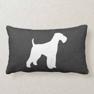 Airedale Terrier Silhouette Lumbar Pillow