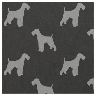 Airedale Terrier Silhouettes Pattern Fabric