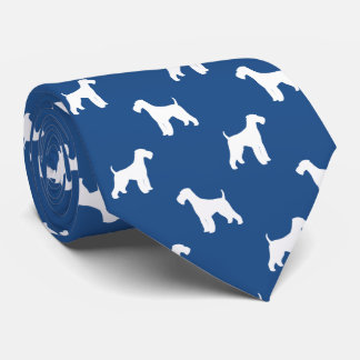 Airedale Terrier Silhouettes Pattern Tie