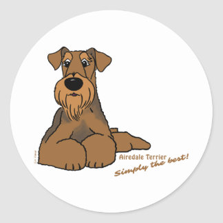 Airedale Terrier - Simply the best! Classic Round Sticker