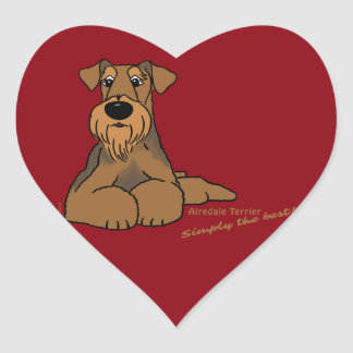 Airedale Terrier - Simply the best! Heart Sticker