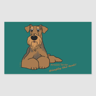Airedale Terrier - Simply the best! Sticker