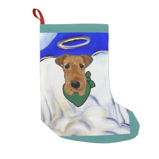 Airedale Terrier Small Christmas Stocking