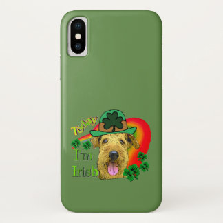 Airedale Terrier St. Patrick's Day iPhone X Case