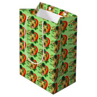 Airedale Terrier St Patricks Day Medium Gift Bag