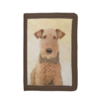 Airedale Terrier Tri-fold Wallets