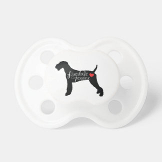 Airedale Terrier with Heart Dog Breed Love Baby Pacifier