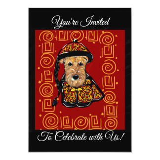 Airedale Terrier Year of the Dog Card
