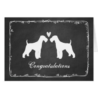 Airedale Terriers Wedding Congratulations Card