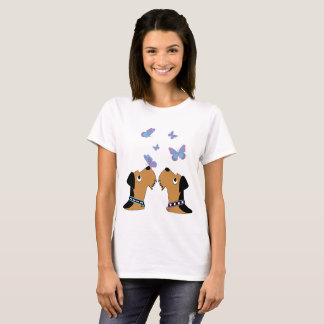 Airedales and Butterflies T-Shirt