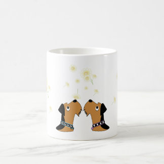 Airedales and Daisies Coffee Mug