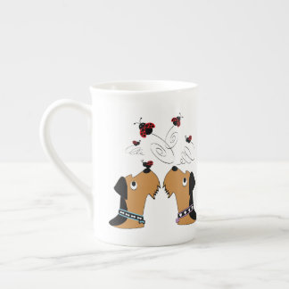 Airedales and Ladybirds Tea Cup