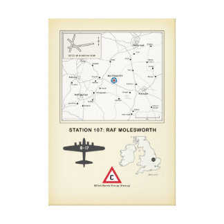 Airfield Map Molesworth Canvas Print