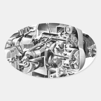 Airhead Cutaway Oval Sticker