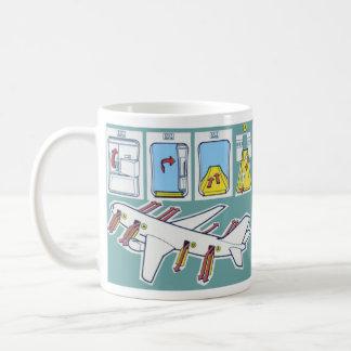 Airline Emergency Safety Card Coffee Mug