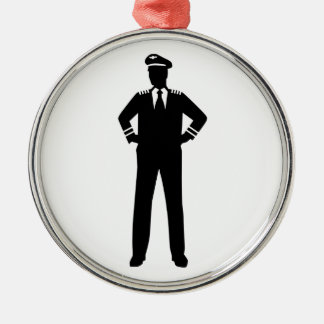 Airline pilot metal ornament