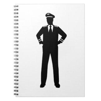 Airline pilot spiral notebook