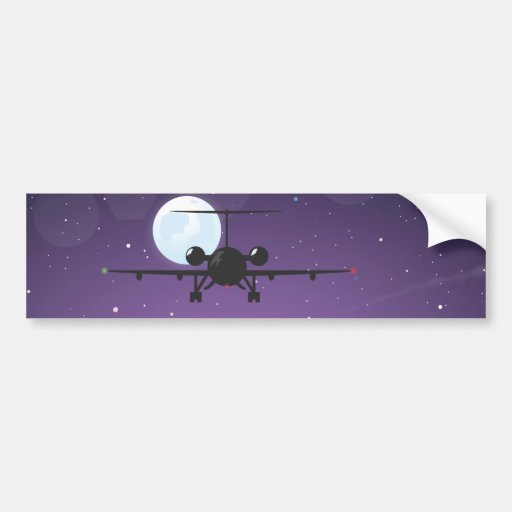 airline takeoff bumper stickers