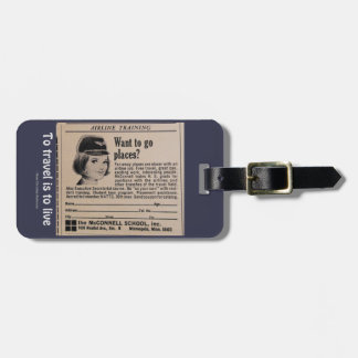 Airline Travel Airline Crewmember Recruitment Ad Luggage Tag