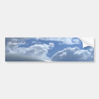 Airliner-cockpit-with-clouds-in-background Bumper Sticker