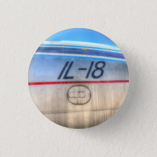 Airlines Ilyushin IL-18 1 Inch Round Button