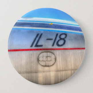 Airlines Ilyushin IL-18 4 Inch Round Button