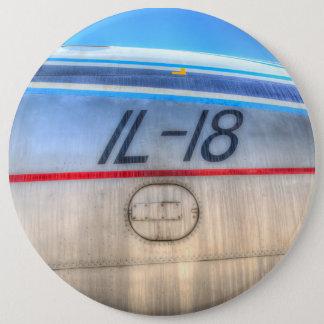 Airlines Ilyushin IL-18 6 Inch Round Button